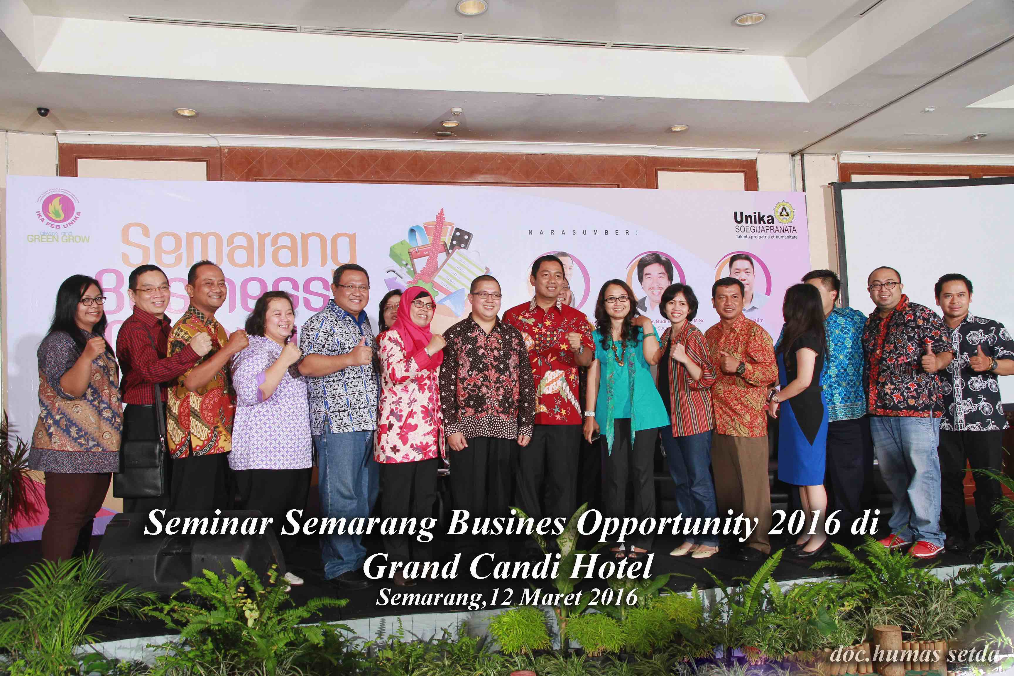 Seminar Semarang Business Opportunity 2016 di Grand Candi Hotel