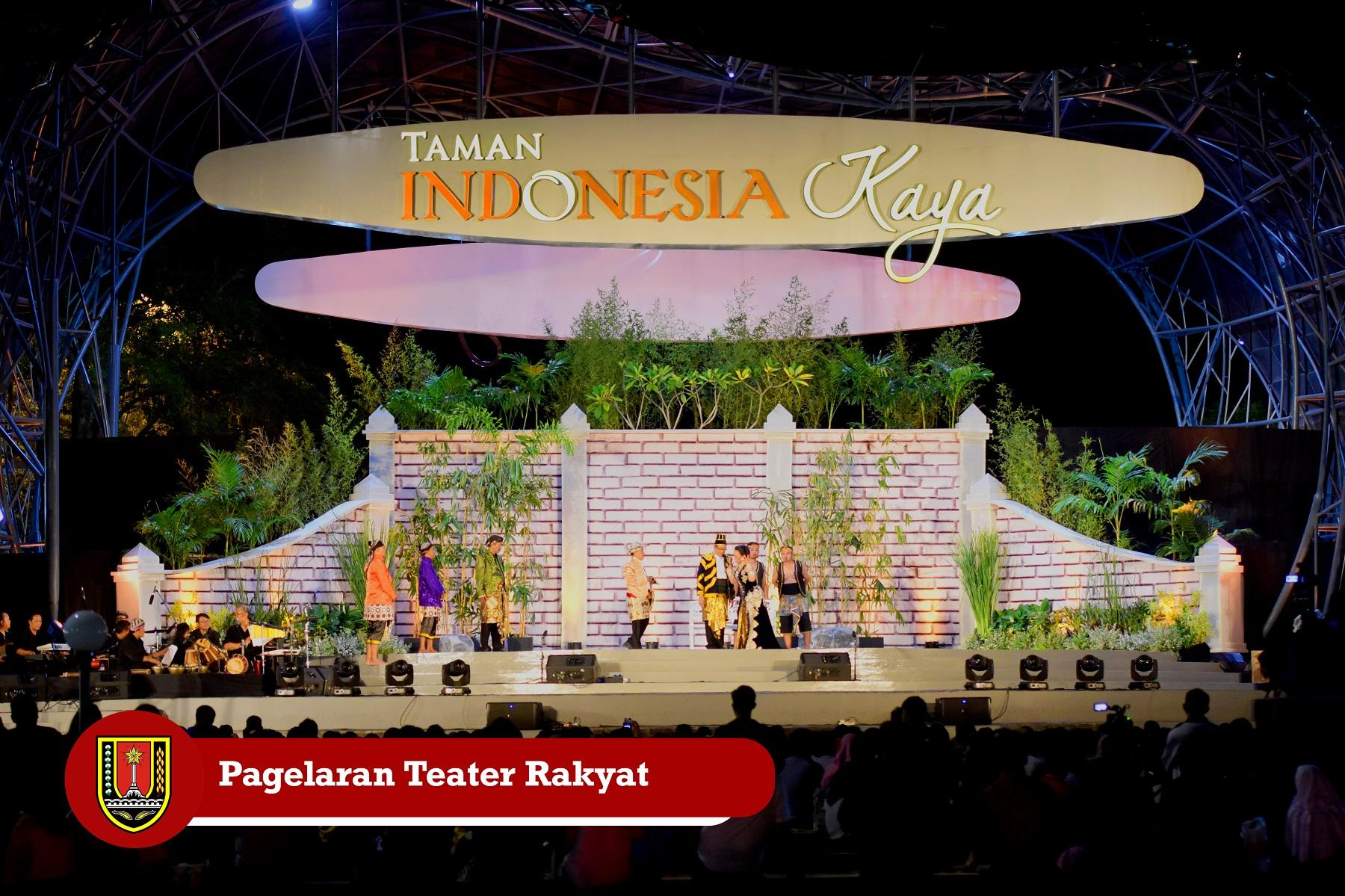 PAGELARAN TEATER RAKYAT (MISTERI SANG PANGERAN) TAMAN INDONESIA KAYA