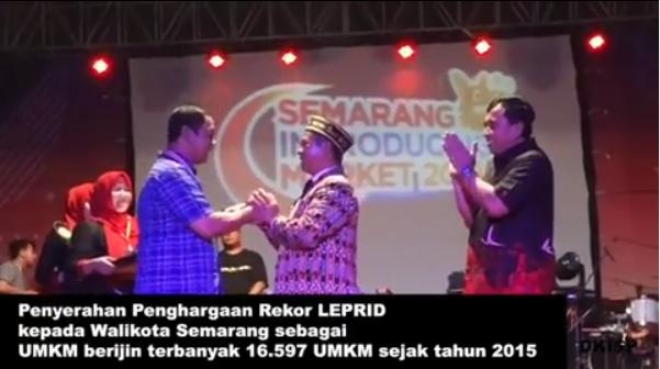 Pemkot Semarang : Hendi mendapat Penghargaan LEPRID