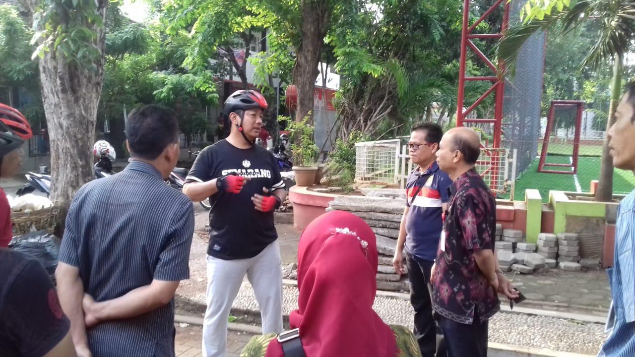 Bapak Walikota Semarang meninjau pembangunan Lap Futsal Miroto