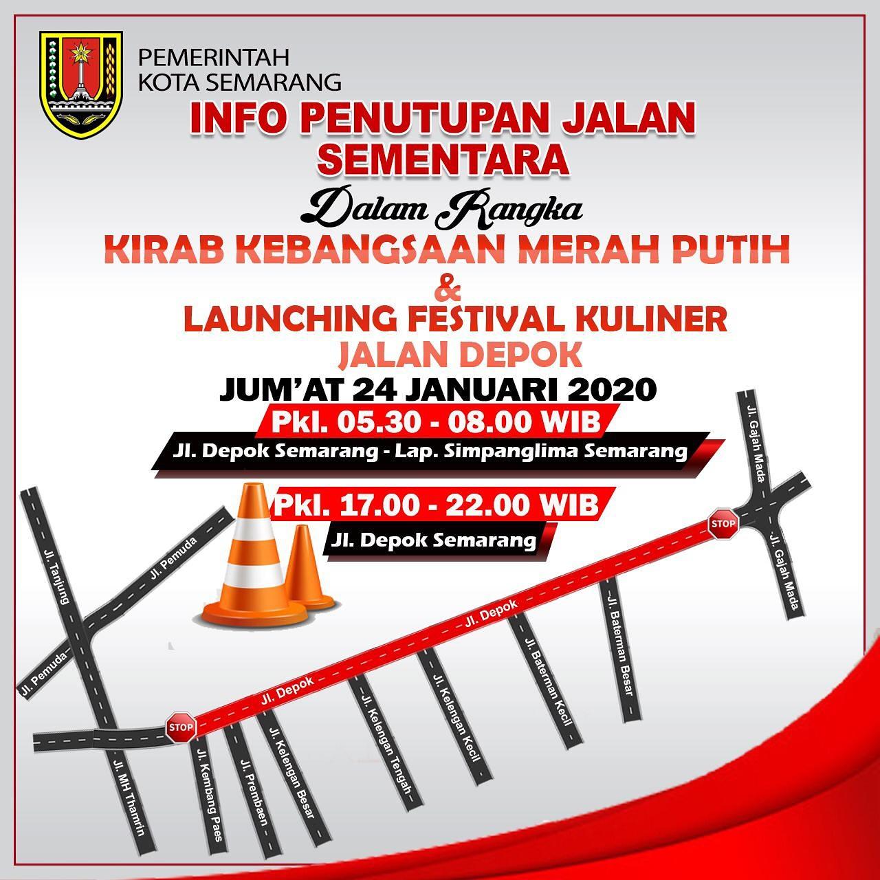 Pemkot Semarang : Penutupan Jalan Sementara Di Jalan Depok